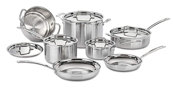 Cuisinart Multiclad Pro Stainless Steel 12 Piece Cookware Set