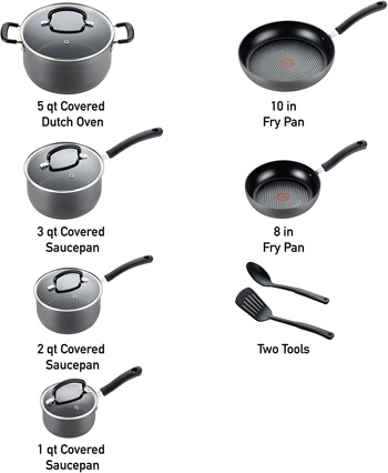 T fal Nonstick Cookware Set