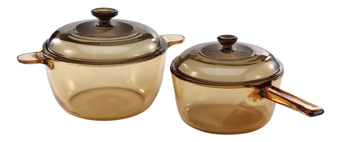 Visions 4-piece Glass Cookware